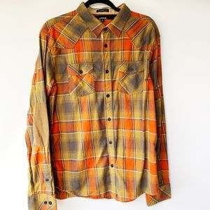 CARBON Long Sleeve Flannel Shirt